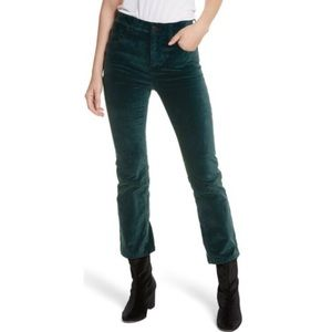 Free People NWOT Velvet Crop Jeans